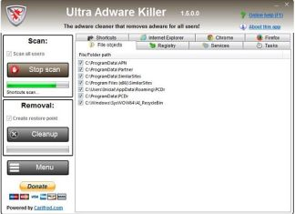 Eliminar adware en Windows