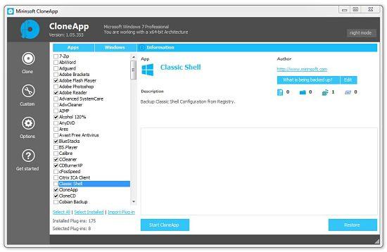 CloneApp - hacer backup de configuraciones de aplicaciones