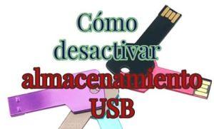 Cómo desactivar el almacenamiento USB desde el Registro de Windows