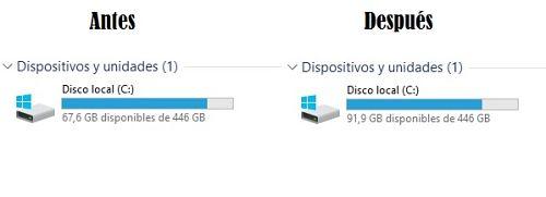 Liberar espacio en Windows 10 de hasta 30 GB rápidamente