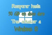 Liberar espacio en Windows 10 eliminando instalación anterior
