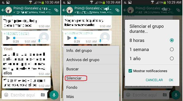 Tips y trucos de WhatsApp: silenciar grupos