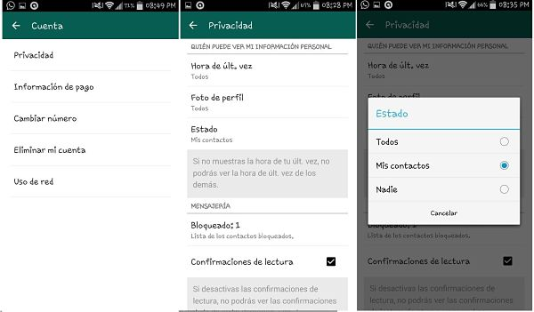 Tips y trucos de WhatsApp: ocultar estado