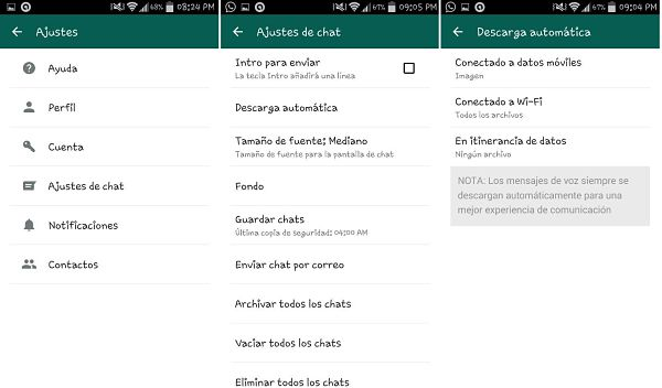 Tips y trucos de WhatsApp: descarga automática de multimedia