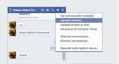Cómo enviar archivos por Facebook