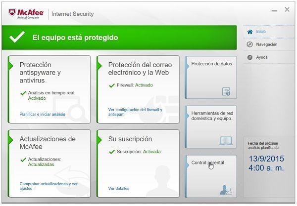 Descargar McAfee Internet Security full gratis por 6 meses