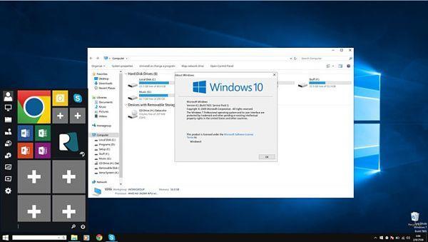 Transforma tu viejo Windows con Windows 10 Transformation pack