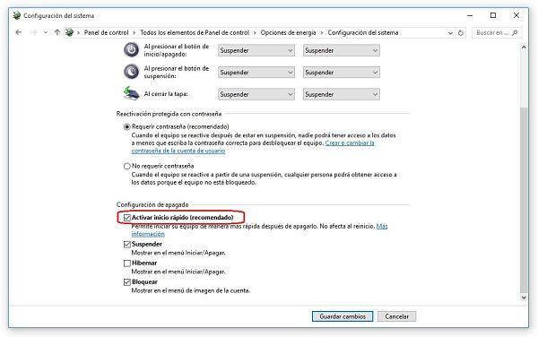 Acekerar el inicio de Windows 10