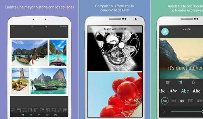 Pixlr, un editor de fotos con el que podrás crear collage fácilmente en Android
