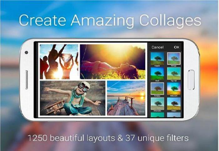 piZap - aplicación para crear collage de fotos en Android
