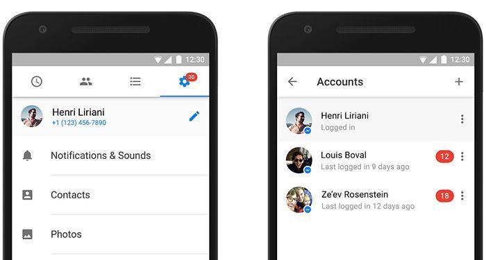 Facebook Messenger, ahora con soporte para varias cuentas en un dispositivo Android