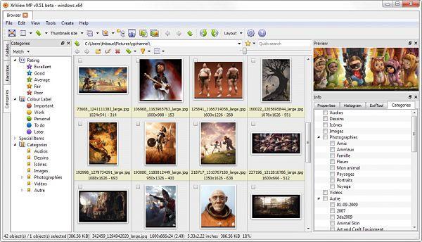 XnView: Otro visor de imágenes con que puedes abrir archivos PSD sin Photoshop