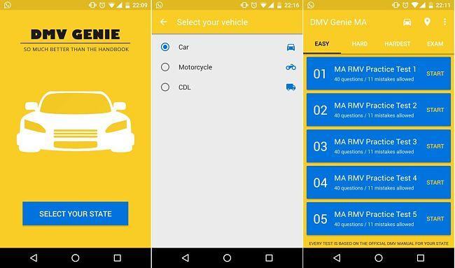DMV Genie: App Android para ayudarte a aprobar examen teórico de manejo en cualquier estado de EE.UU.