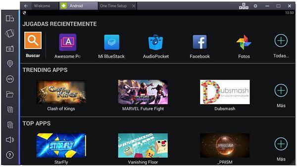 BlueStacks es uno de los mejores emuladores Android para la PC