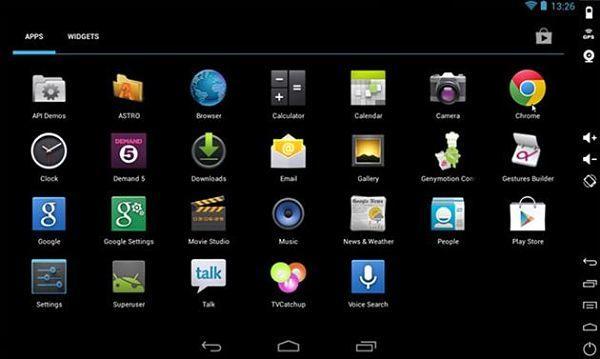 GenyMotion es otro de los mejores emuladores Android para la PC