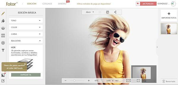 Fotor: Mejores programas para editar fotos gratis