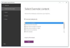 OneNote Importer: Cómo Importar tus Notas y Libretas Desde Evernote a OneNote