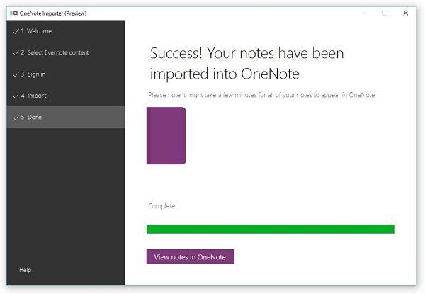 Importar tus notas y libretas desde Evernote a OneNote
