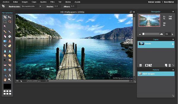 Pixlr Editor: Mejores programas para editar fotos gratis