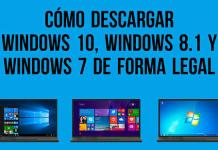Descargar Windows 10, Windows 8.1 y Windows 7 legalmente