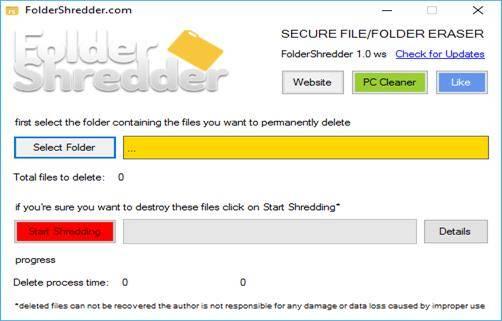 FolderShredder: Cómo eliminar archivos y carpetas de forma permanentemente en Windows