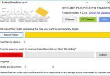 Eliminar archivos permanentemente con FolderShredder