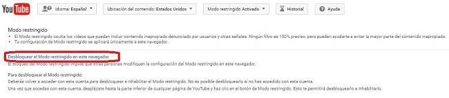 Deshabilitar el Modo restringido de YouTube desde el navegador web en la PC