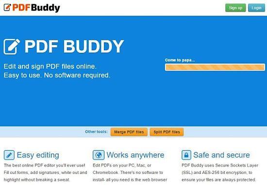 PDFBuddy: uno de los mejores servicios para editar archivos PDF online