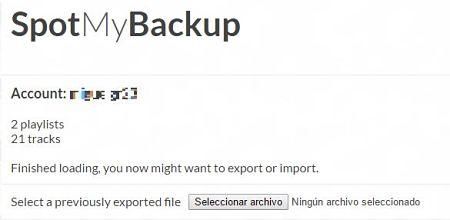 Exportar e importar listas de reproducción de Spotify con SpotMyBackup