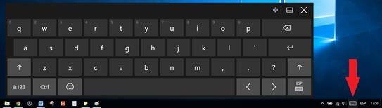 Teclado virtual de Windows 10