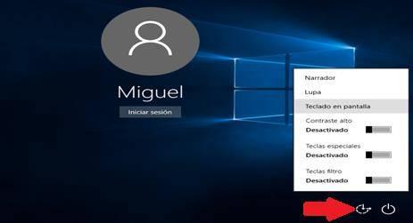 Como abrir el teclado en pantalla o teclado virtual en Windows 10