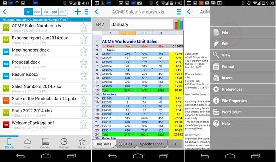 Docs-To-Go está entre las mejores aplicaciones ofimáticas para Android