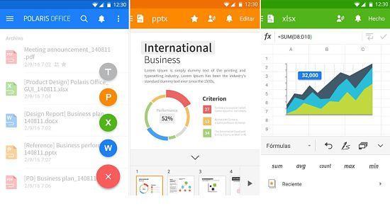 Polaris Office está entre las mejores aplicaciones ofimáticas para Android