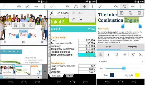 Quickoffice es una de las mejores aplicaciones ofimáticas para Android