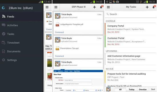 Zoho Projects está entre las mejores aplicaciones ofimáticas para Android