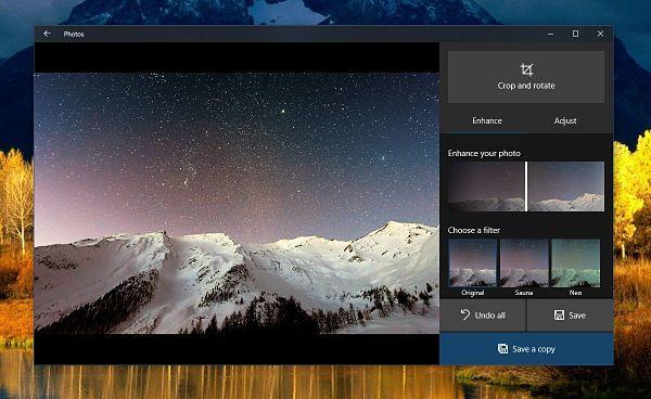 Cómo mejorar imágenes con la aplicación Fotos de Windows 10