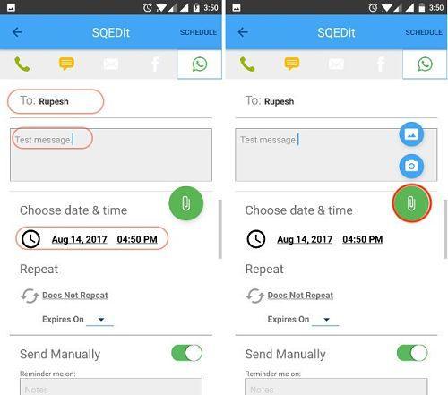 Programar mensajes de WhatsApp en Android