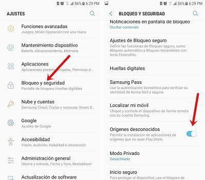 Instalar versiones anteriores de apps en Android