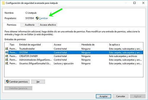 Solucionar acceso denegado a carpeta en Windows 10
