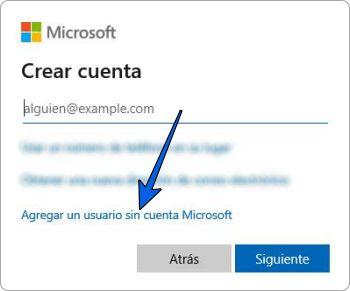 Crear una nueva cuenta en Windows 10