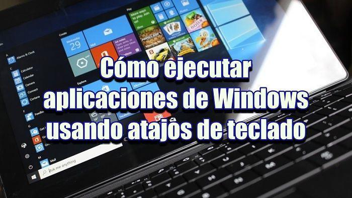 Cómo ejecutar aplicaciones con atajos de teclado en Windows