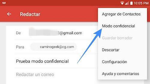 Usar el Modo confidencial de Gmail para Android