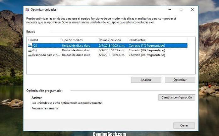 Qué es desfragmentar el disco duro en Windows