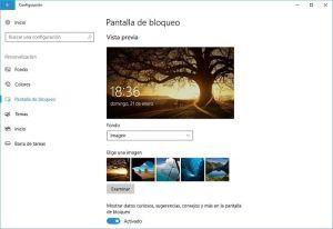 Cómo personalizar la pantalla de bloqueo en Windows 10
