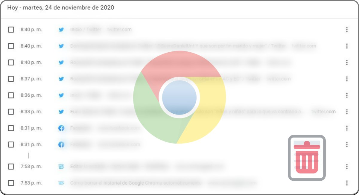 Borrar el historial de Google Chrome automáticamente