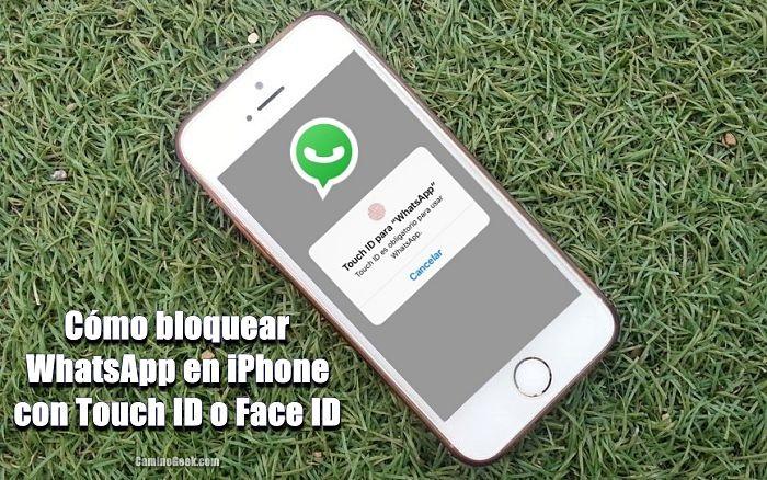 Bloquear WhatsApp en iPhone con Touch ID o FaceID