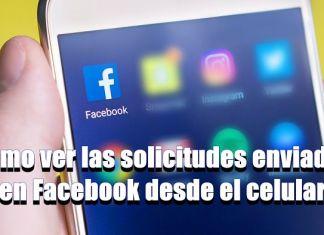 Cómo ver las solicitudes enviadas en Facebook desde el celular