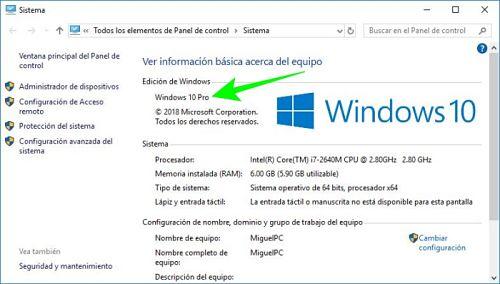 Cómo saber qué Windows tengo instalado en mi PC o laptop.