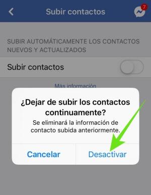 Cómo desactivar la sincronización de mi celular con Facebook