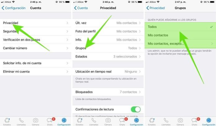Cómo bloquear un grupo de WhatsApp en iPhone